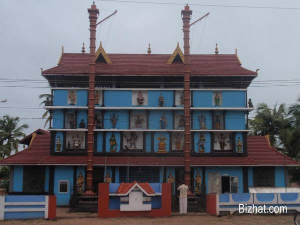 Temple with twin flagstaff