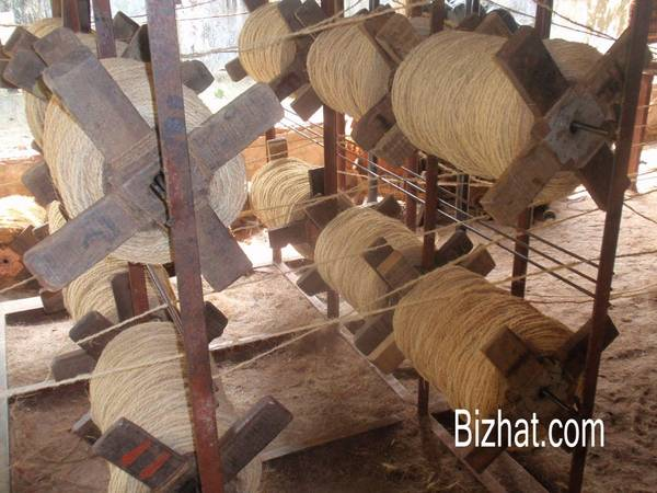 Coir mat making