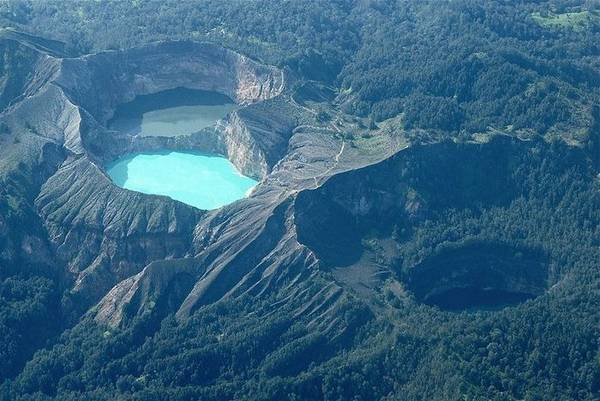 The Tri-Colored Crater Lakes of Kelimutu
