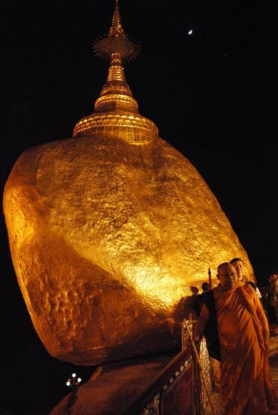 Burma's Golden rock