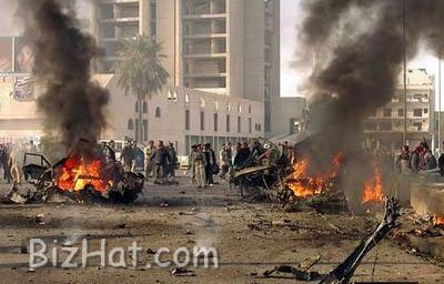 The-scene-of-a-car-bomb-in-