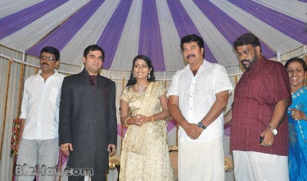 Navya Nair Wedding Reception photos