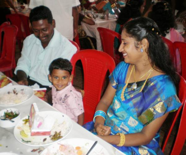 Chris with Achan & Amma