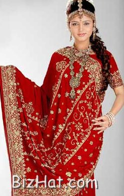 red_crepe_saree
