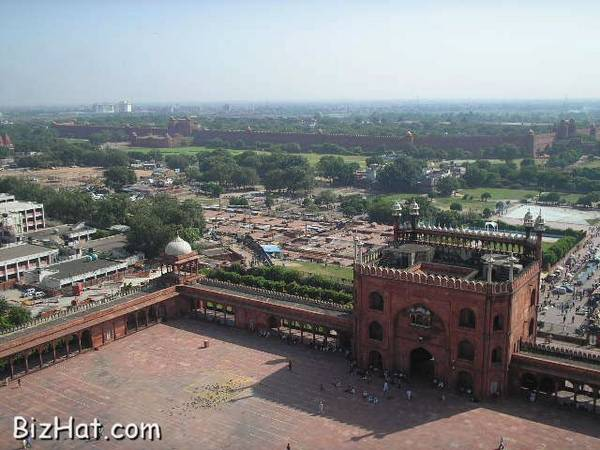 Red fort view