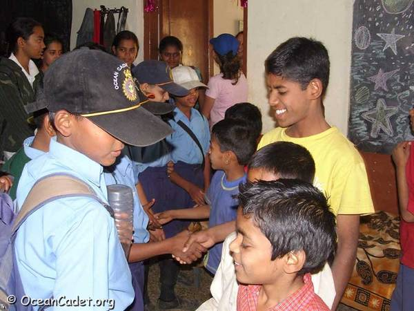 Cadets meeting the Children of Sampark Orphanage