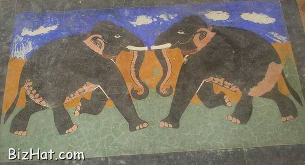 Picture on the tomb floor