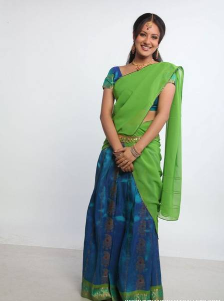 half saree latest trends