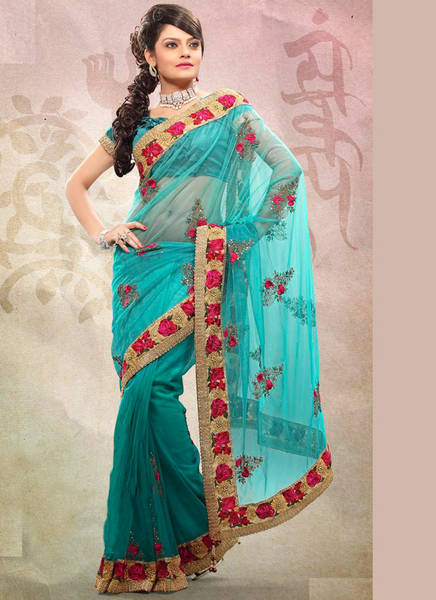 Embroidered Net Sarees