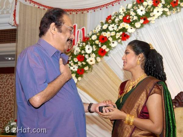 Janardhanan with Gopika