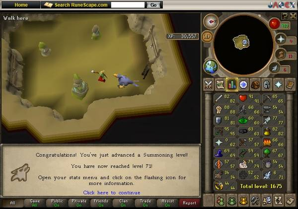 RuneScape Summoning  Level 71