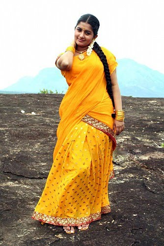 Meera-Jasmine-Yellow-Half-saree