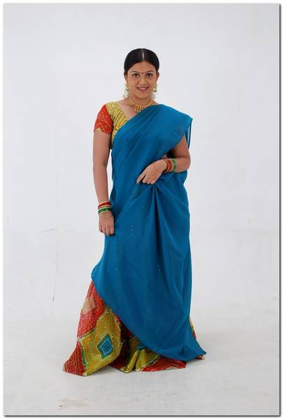 Actress in  half saree