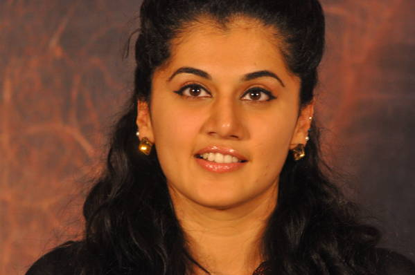 Tapsee At Sahasam Movie Success Meet Stills.Tollywood new movie Sahasam Mov
