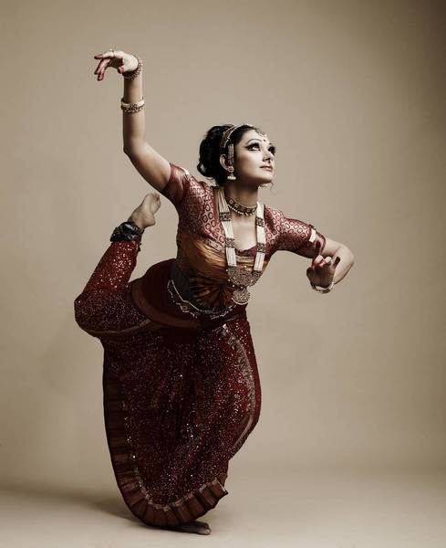 Actress in dancing style