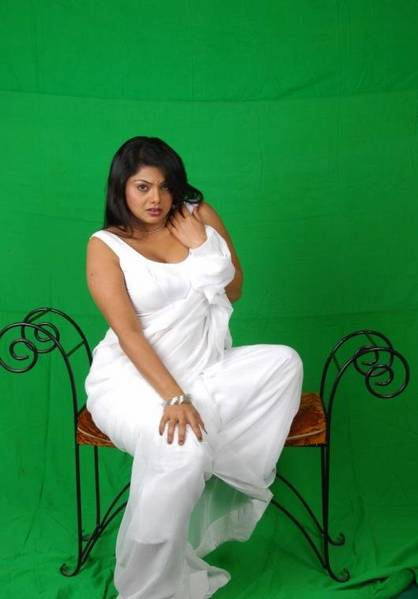 Swathi Varma Hot Stills in White Saree
