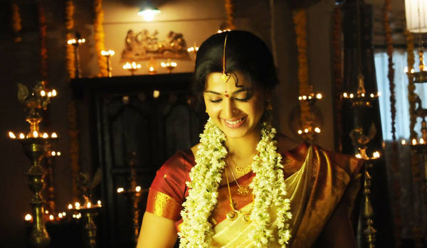 Actress in wedding style