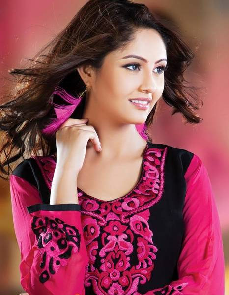 pink and black salwar
