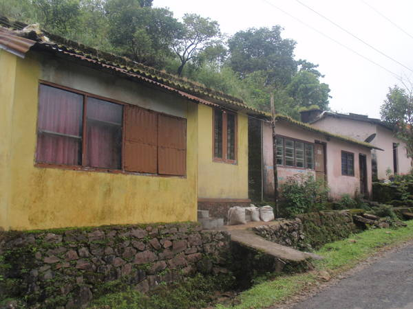 Houses at the base