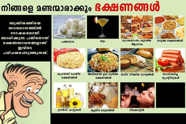 Food to be avoid