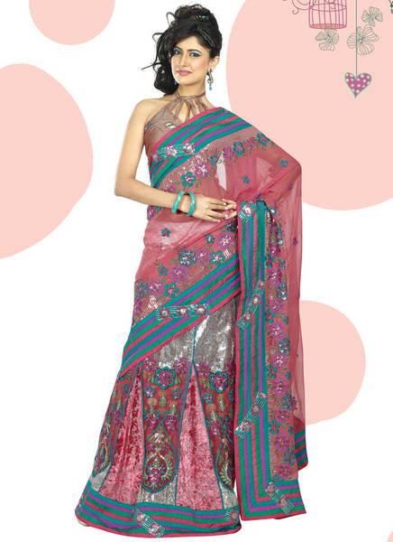Multicoloured Saree Design