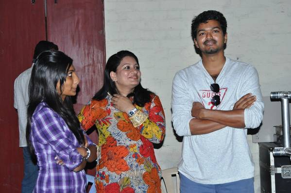 Vijay At Sattam Oru Iruttarai Movie Shooting Spot