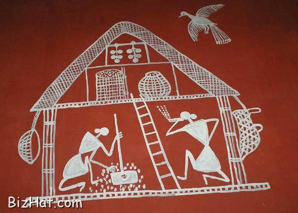 Tribal painting on house walls