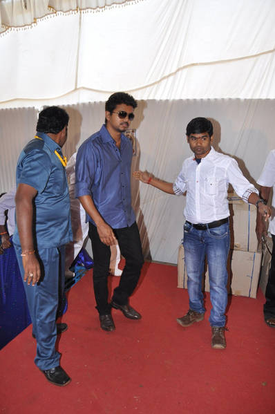 Vijay At Hosur Marriage Function