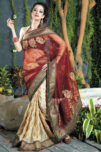 Duel Fabric Saree