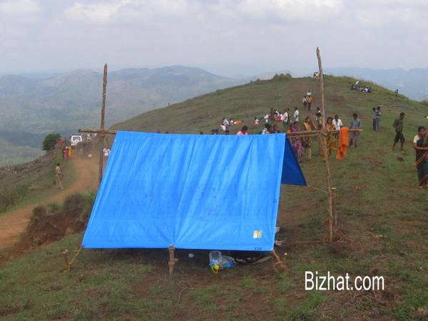Tent for the forest officials