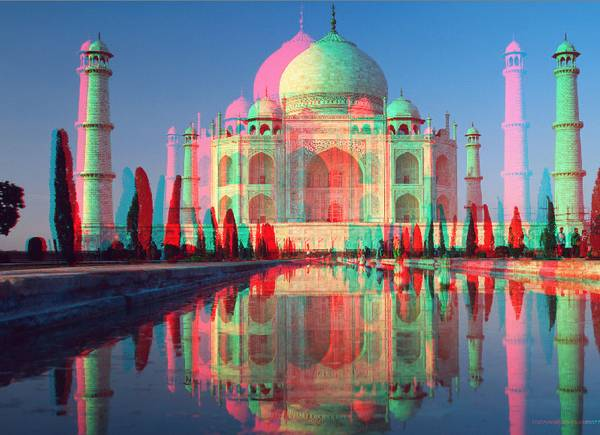 taj mahal world wonder 3d