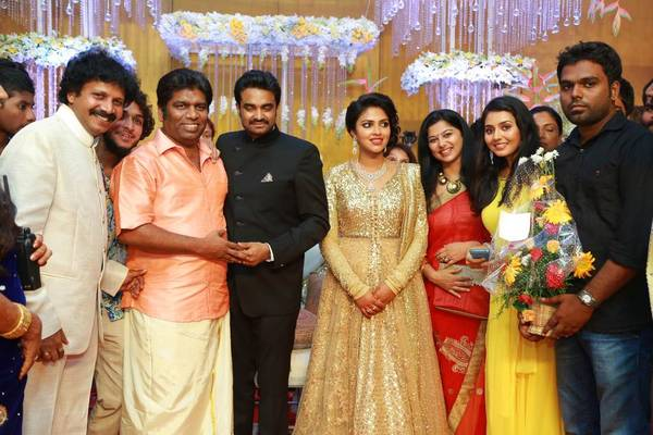 Celebs at Amala Paul And AL Vijay Marriage Reception Photos