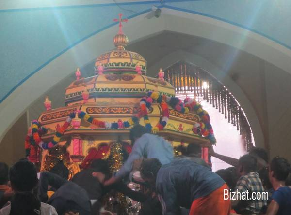 Palanquin of St. Sebastian after the procession