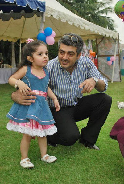 Ajith with Daughter