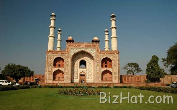 Famous muslim mosque, Sikandra, Agra